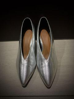 銀色高跟鞋 全新