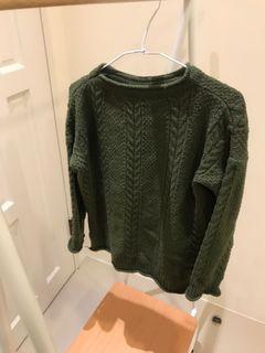 墨綠色 抹茶色 毛衣