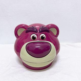 香港迪士尼 熊抱哥 糖果罐 糖果盒 爆米花桶 草莓熊