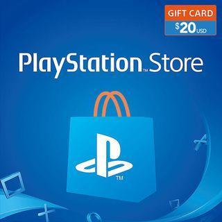 [好評過千]美國 PSN 20 usd 預付卡 美服 美版 PlayStation™ Network Store PS5