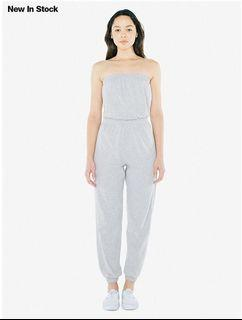 American Apparel Womens Fine Jersey Strapless Jumpsuit - Size XS