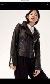 Aritzia Mackage Kenya Leather Jacket Black XXS