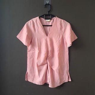 Basic basix blouse pink salem preloved
