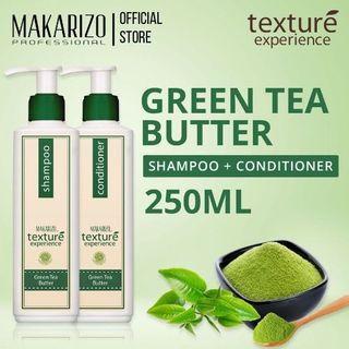 [BUNDLE] MAKARIZO Texture Experience Shampoo + Conditioner Green Tea 250ml