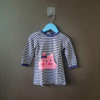 Early birds stripe baby blouse preloved