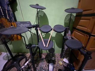 FOR SALE! Drum Elektrik Yamaha DTX-452K  (BONUS DOUBLE PEDAL BAGUS!)