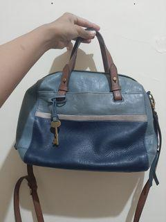 Fossil satchel multi blue