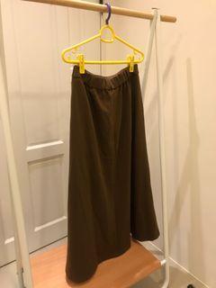 Gu 深棕色 咖啡色 長裙