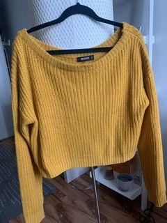 Missguided off-the shoulder sweater - Size S/M