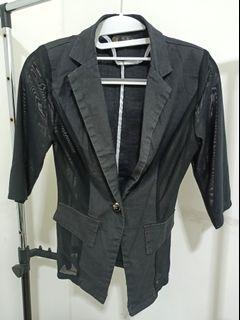 Outer/blazer bkk hitam