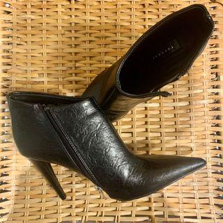 Topshop patent black leather ankle boots