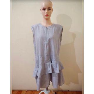ZARA TRAFALUCT dress blue