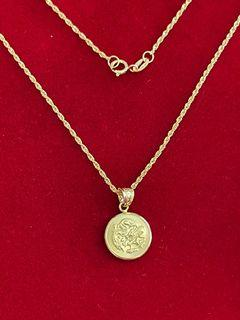 18KT Gold Dragon Charm Necklace