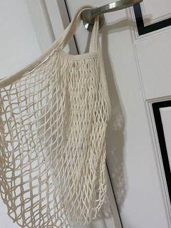米白編織袋-ㄧ大一小