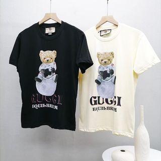 代購 義大利奢侈時裝品牌Gucci X  KAI聯名古馳泰迪熊印花短袖T恤