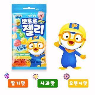 ✨韓國 PORORO 水果造型軟糖 53g✨