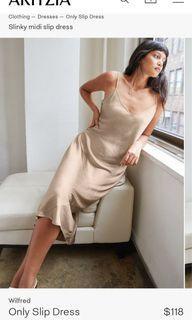 Aritzia Wilfred Only Slip Dress Marmont XS