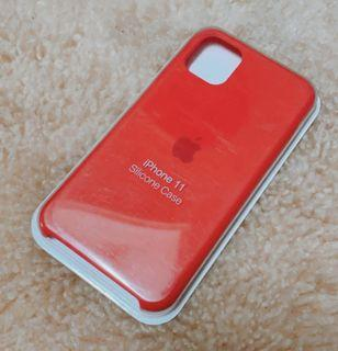 Casing Iphone 11 Silicone red