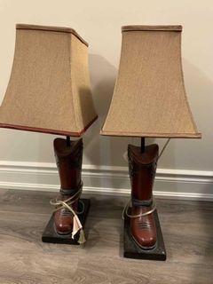 Cowboy boot lamps