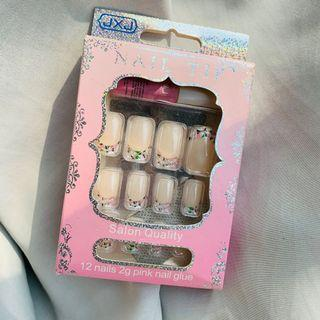 Fake Nails kuku palsu nail tip airbrush nails