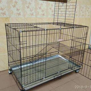 Kandang kucing/anjing ukuran 90x60 2 lantai