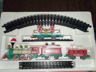 New bright VTG 1996 logger bears train set