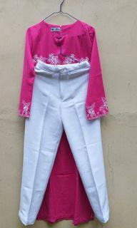 Set Dress Baju Muslim Embroidery Atasan Bawahan