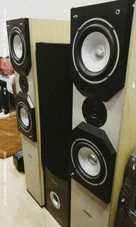Set of 5 Speakers , National , Green-Tech , Darson