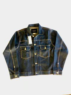 Sixteen Denim Scale D'scale 16ds Jeans Denim Type II 2 Trucker Jacket Jaket Raw Dry Indigo non Selvedge New Baru BNWT M