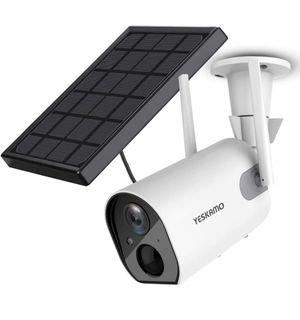 Solar wifi waterproof security camera
