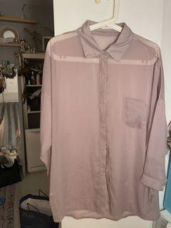 Studio doe 微透藕粉色襯衫