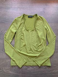 Talula Aritzia Size Small Green Long Sleeve Top
