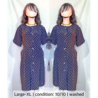 Vintage Dress buttondown L-XL
