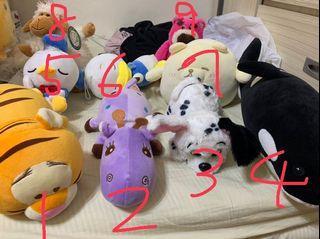 娃娃出清(虎鯨、101忠狗、長頸鹿、跳跳虎、羊、抱哥、唐老鴨、熊)