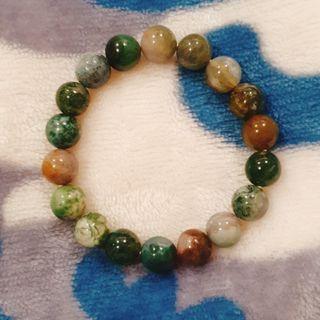 水草瑪瑙 綠瑪瑙 瑪瑙圓珠 水晶手串 手環 手鏈 加強磁場 開運手環