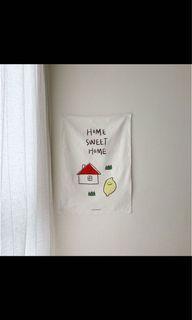 二手/正韓 second morning 甜蜜的家庭 牆壁 棉質 裝飾 海報 #防疫