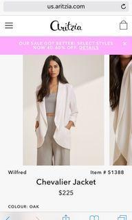 Aritzia Wilfred blazer size 4
