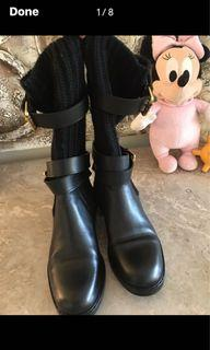 Authentic Gucci Leather/ Sweater Boot