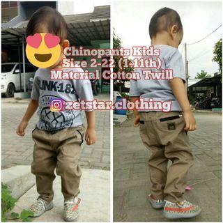 Celana Chino Anak 1 - 11 Tahun