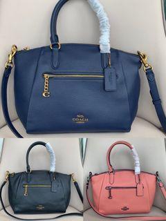 Coach 79316 pebbled leather top-handle satchel handbag
