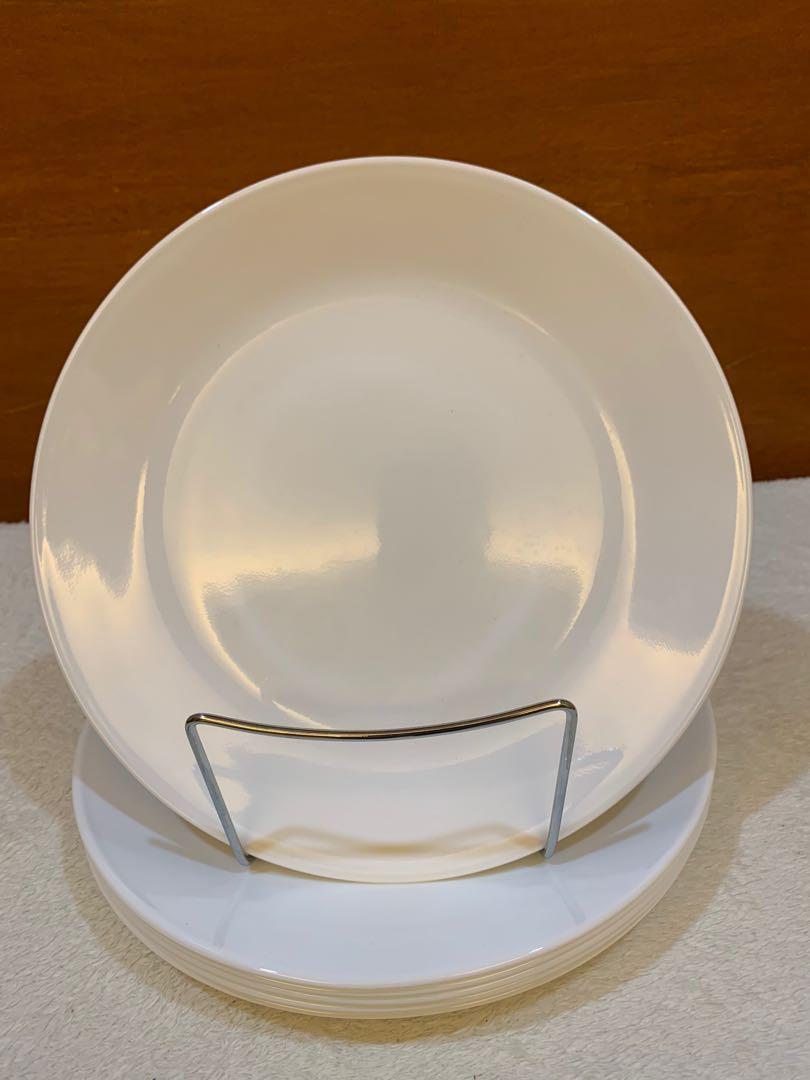 Corelle Square Pure White Lunch Plate, Set of 20, Furniture & Home ...