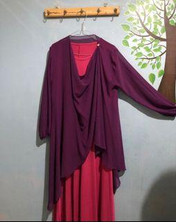 Gamis + outer lucu