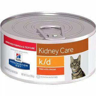 Hills science diet  k/d feline with chicken  156gr/masalah ginjal