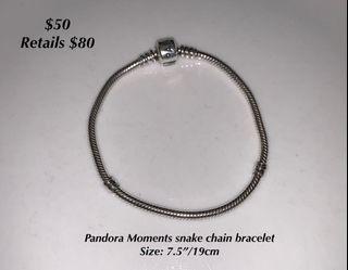 Like new Pandora bracelet & 5 charms bundle!!!