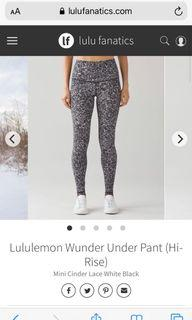 Lululemon tights size 6