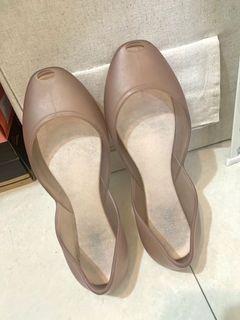 melissa香香鞋透明裸膚-one by one系列-果凍雨鞋-巴西香香魚口鞋