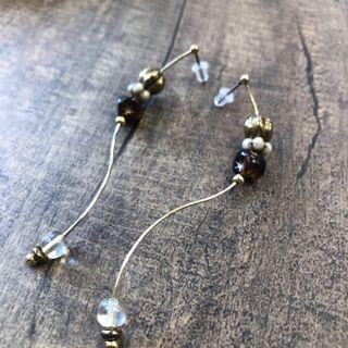 Pinkoi設計師品牌✨垂墜串珠耳環 日本復古珠珠