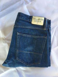 Tellason Stock Indigo Cone Mills Jeans Denim Big Size Jumbo non Selvedge Second Preloved Bekas Thrift