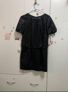 媽媽衣櫃裡的秘密*復古黑色短袖洋裝
