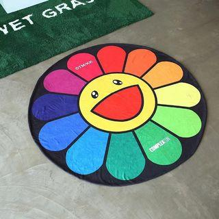 代購 Takashi Murakami ComplexCon Flower Mug 村上隆太陽花圓形毛巾 毯子